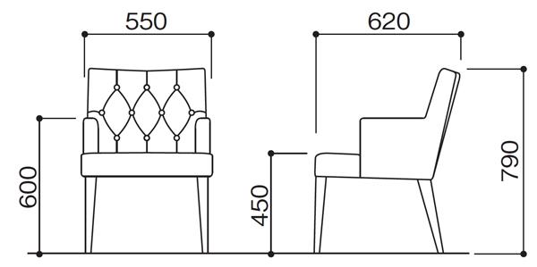 N131-DBアームチェア