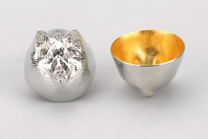 610089_Sake_Cup_Oriental_Zodiac_dog_gold