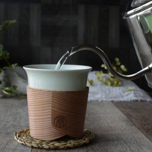 博多曲物で包む teacup「Haori Cup」